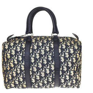 Christian Dior Trotter Pattern Hand Bag Canvas